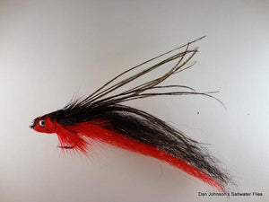 Flat Nose Andino Deceiver - Red / Black Synthetic #4/0 - Dan Johnson Custom Saltwater Flies