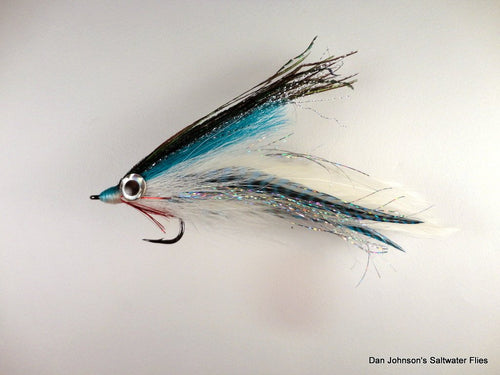 Big Eye Deceiver - Blue / White - Dan Johnson Custom Saltwater Flies