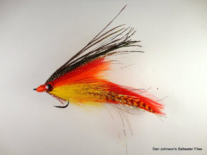"Big Eye Deceiver - ""Hot Tamale"" - Dan Johnson Custom Saltwater Flies"