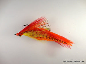 "Peacock Bass DeClouser - ""Hot Tamale"" - Dan Johnson Custom Saltwater Flies"