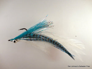 Peacock Bass DeClouser - Baby Blue / White - Dan Johnson Custom Saltwater Flies
