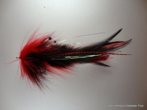 GT Semper Squid - Black Red - Dan Johnson Custom Saltwater Flies