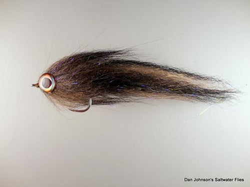 BP Brush Fly - Tan Black - Dan Johnson Custom Saltwater Flies