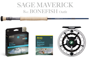 Sage MAVERICK Fly Rod - BONEFISH Combo 8wt Fly Rod + Spectrum LT Reel (7/8)
