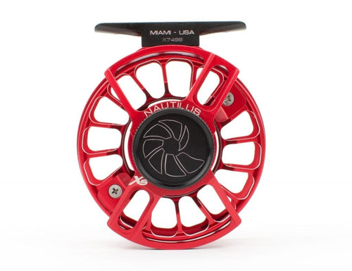 Nautilus X Series Fly Reels - Red