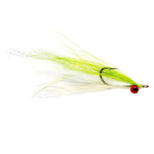 Umpqua Flies - Clouser Minnow Chartreuse/White 2/0