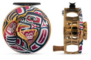 "Abel SDS Fly Reel - ""Osiris Tribal Grizzly"" Special Hand-Painted Finish"