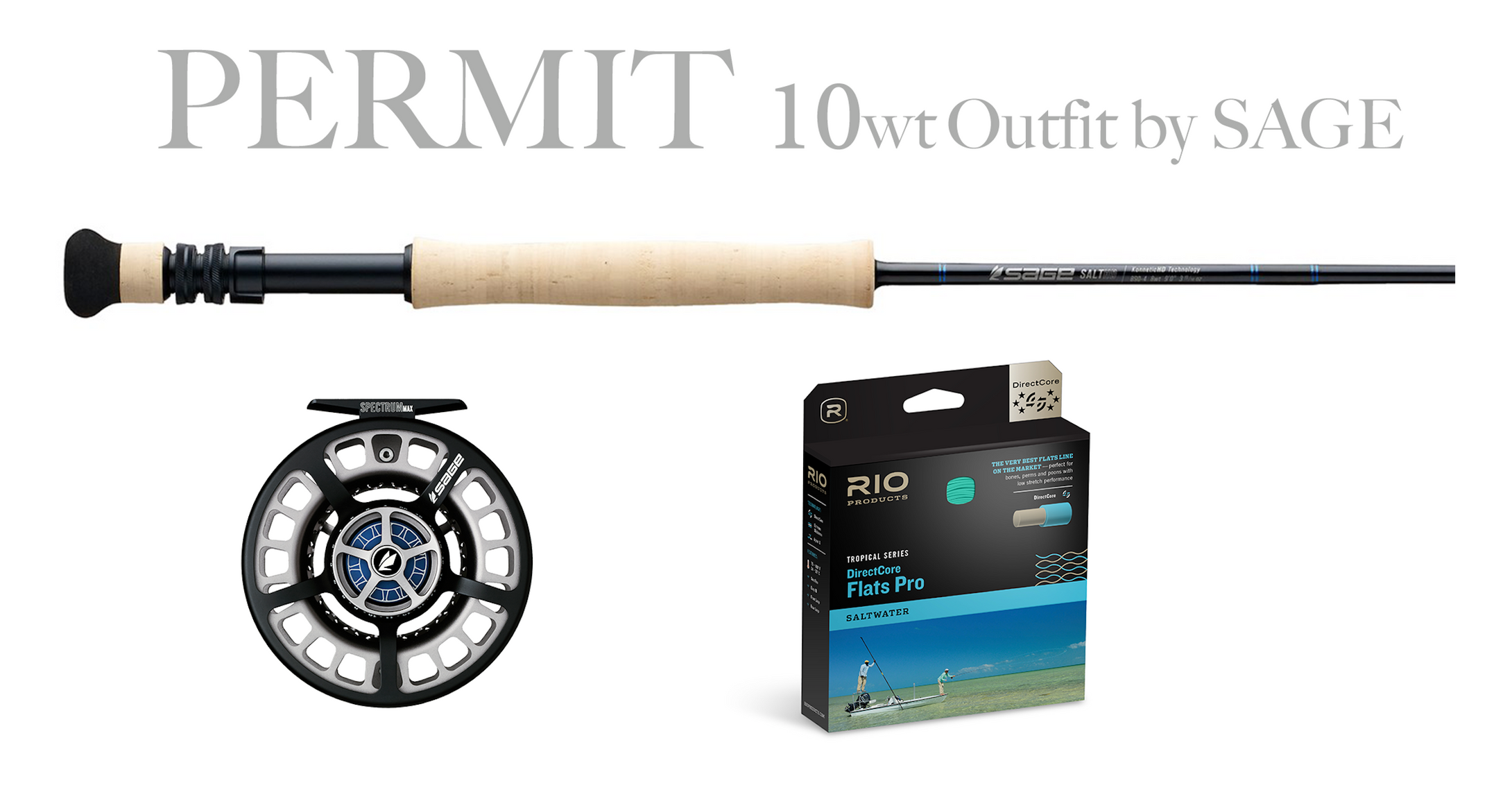Sage PERMIT Combo 10wt - SALT HD Fly Rod 10wt + Spectrum MAX Reel (9/10)
