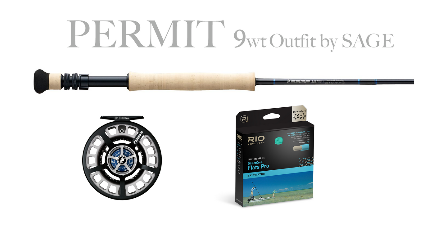 Sage PERMIT Combo 9wt - SALT HD Fly Rod 9wt + Spectrum MAX Reel (9/10)