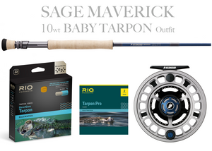 Sage MAVERICK Fly Rod - BABY TARPON Combo 10wt Fly Rod + Spectrum MAX Reel (9/10)