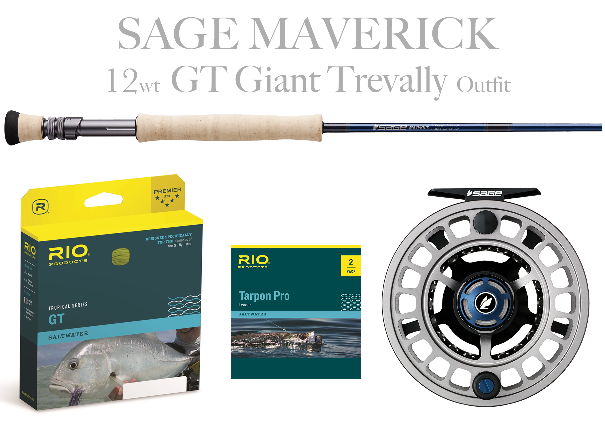 Sage Maverick Fly Rod Offshore Combo 14wt Fly Rod Spectrum Max Ree Salt Fly Pro