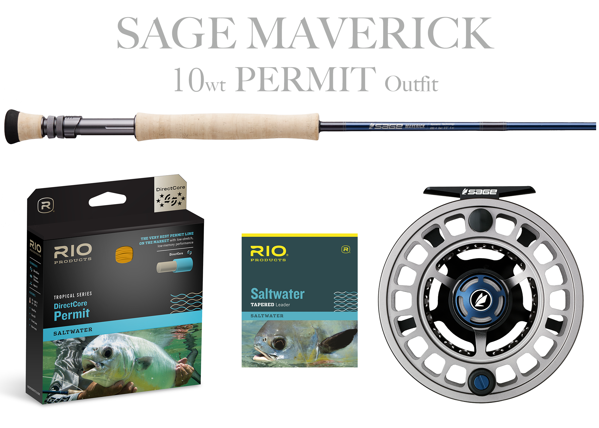 Sage MAVERICK Fly Rod - PERMIT Combo 10wt Fly Rod + Spectrum MAX Reel (9/10)