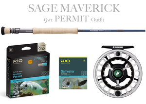 Sage MAVERICK Fly Rod - PERMIT Combo 9wt Fly Rod + Spectrum LT Reel (9/10)