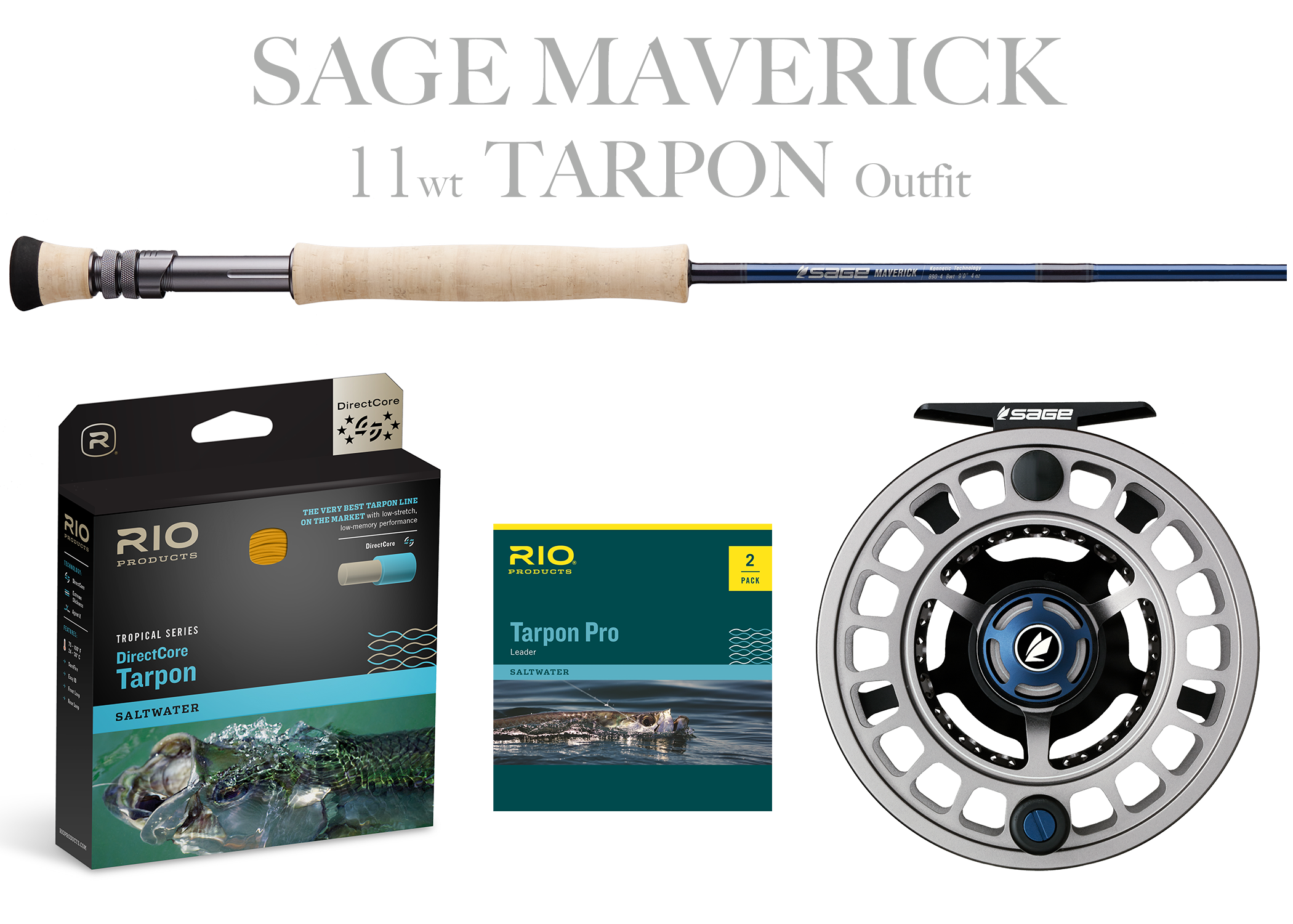 Sage MAVERICK Fly Rod - TARPON Combo 11wt Fly Rod + Spectrum MAX Reel (11/12)