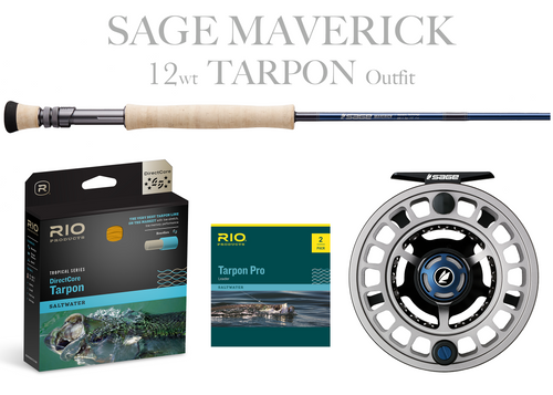 Sage MAVERICK Fly Rod - BIG TARPON Combo 12wt Fly Rod + Spectrum MAX Reel (11/12)
