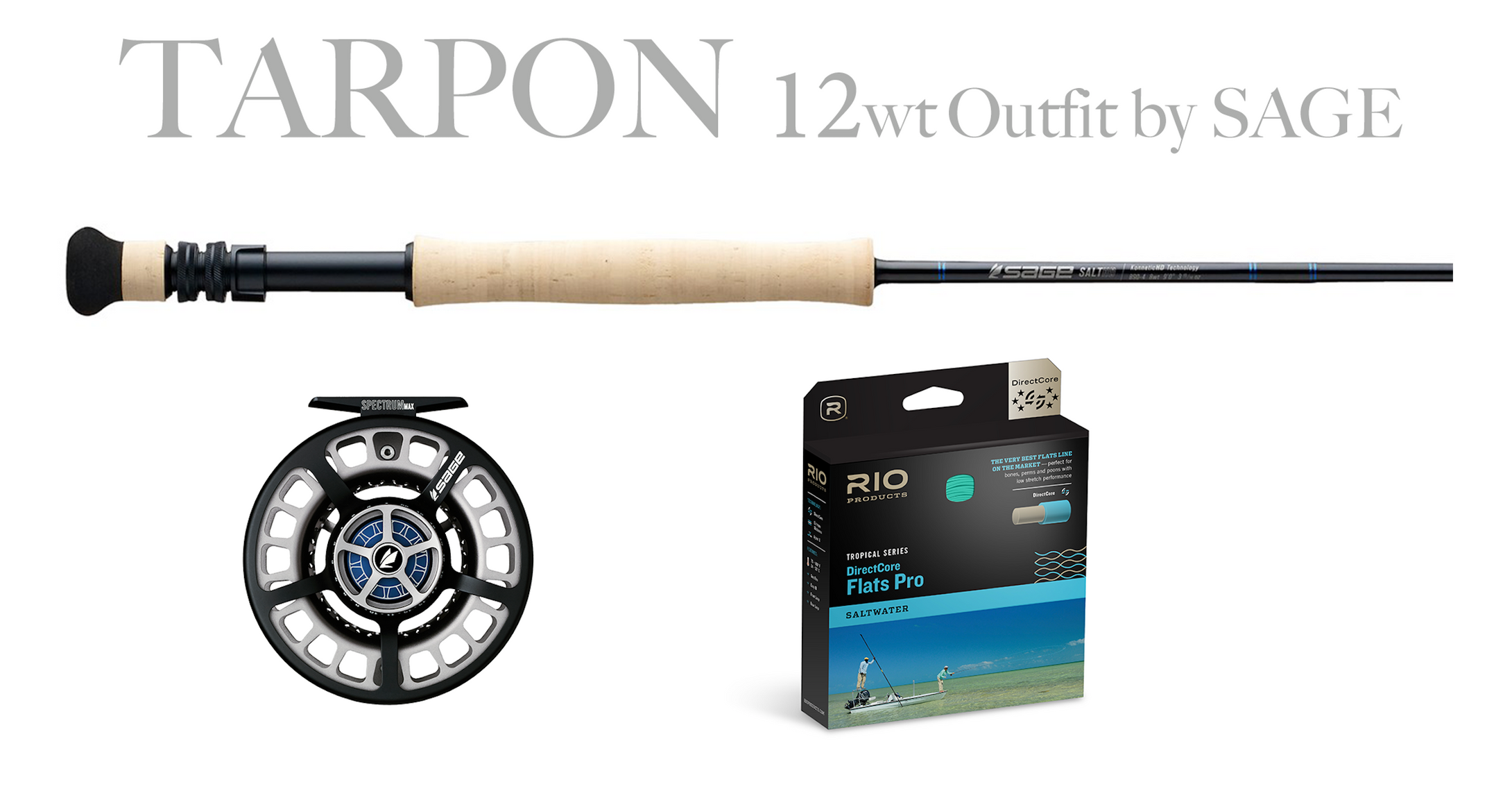 Sage TARPON Combo 12wt - SALT HD Fly Rod 12wt + Spectrum MAX Reel (11/12)