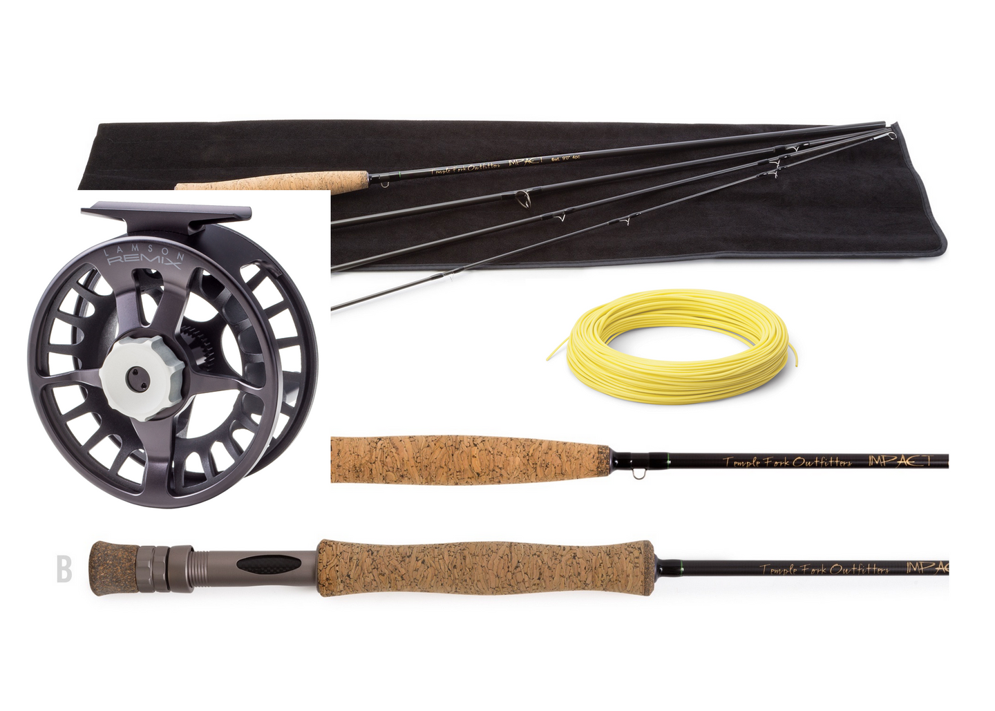 CLEARANCE! Rod & Reel 8wt Combo - TFO Impact Fly Rod 8wt with Waterworks Lamson Remix Fly Reel