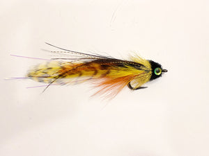 Andino Deceiver - Black / Yellow #4/0 - Ben Piercy Custom Flies - Exclusively for Salt Fly Pro