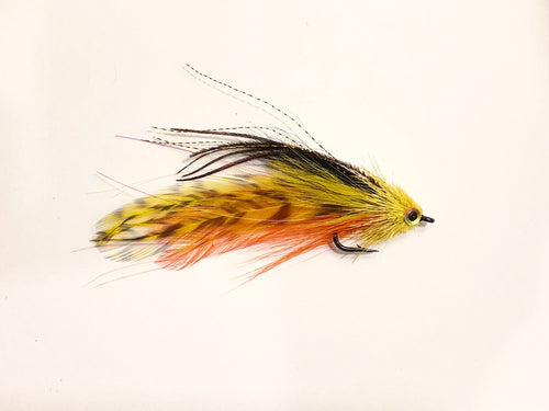 Andino Deceiver - Yellow / Black #4/0 - Ben Piercy Custom Flies - Exclusively for Salt Fly Pro
