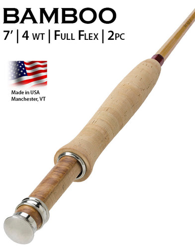 Orvis Bamboo Fly Rod - Penn's Creek Full-flex Bamboo Fly Rod 4WT