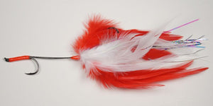 EP Flies - Apte & Enrico Billfish System Tail White & Red #6/0
