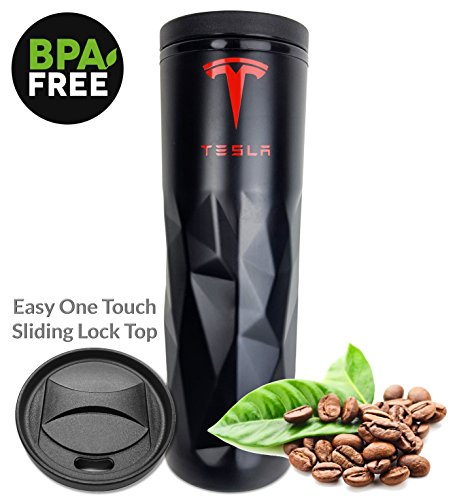 Tesla Travel Mug Coffee Tumbler - 4 dl