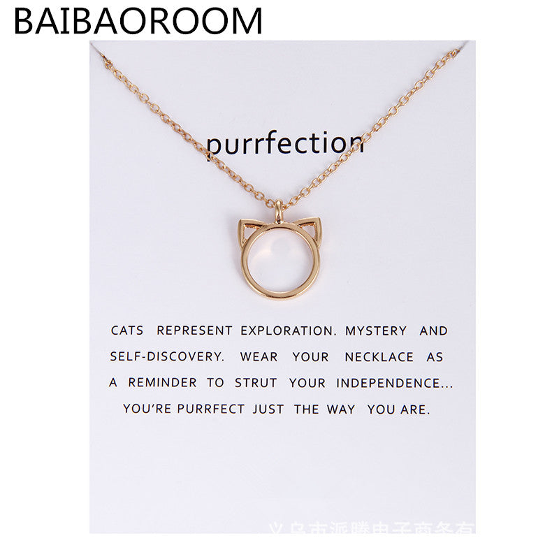 Purrfection Cat Alloy Pendant Short