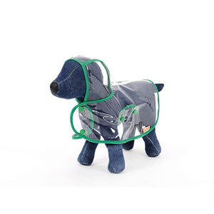 Clear/Transparent Rain Coat for Puppy/Dog