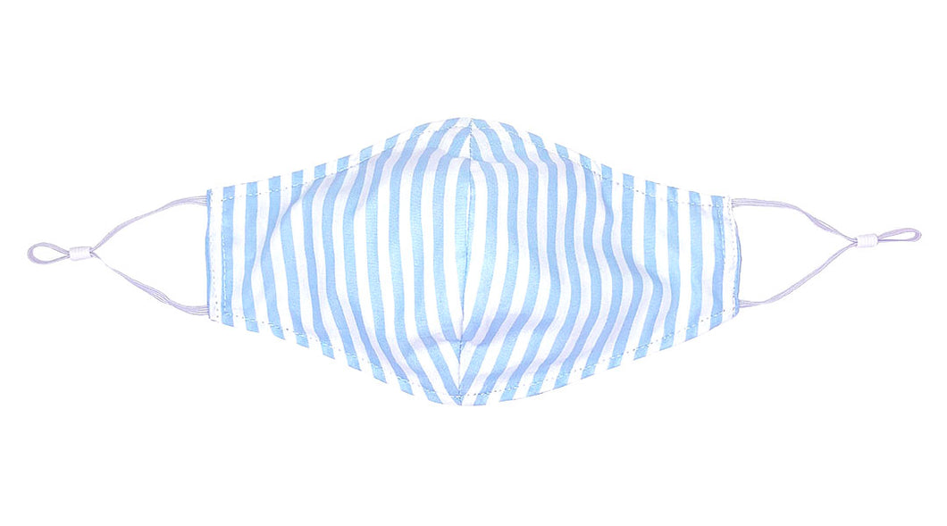 Face Mask Version 2.0 - Blue Cabana Stripe