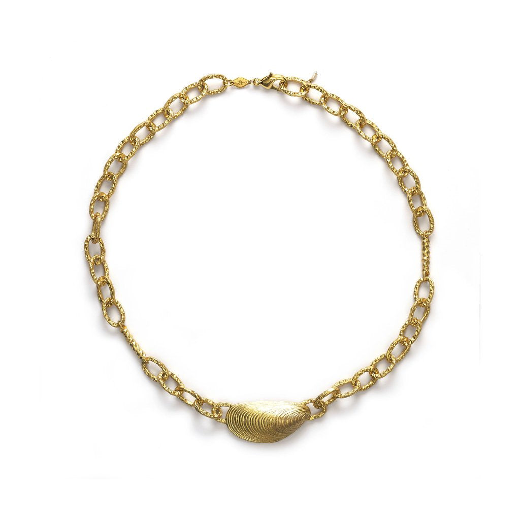 Grand Moules necklace - gold