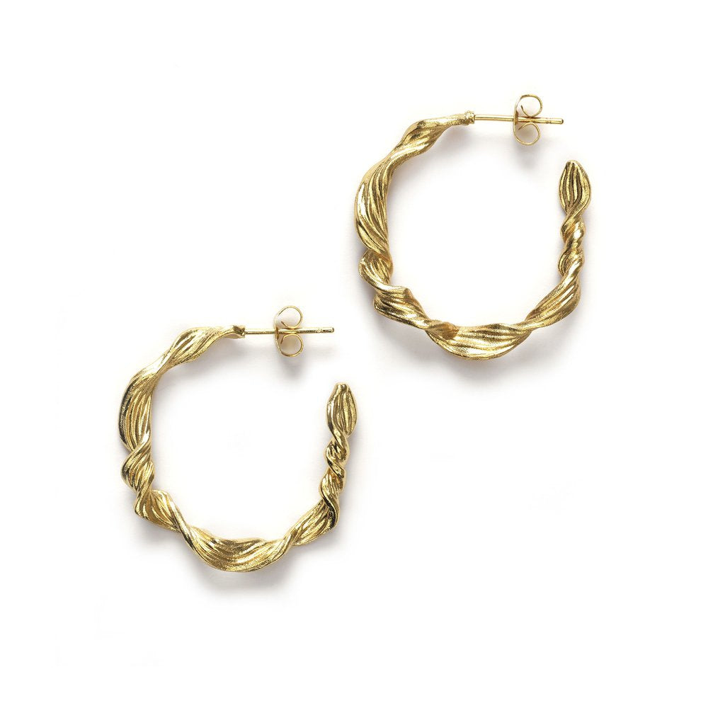 Seaweed hoops - gold