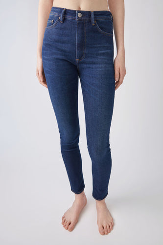 Peg skinny fit high rise jeans - dark blue