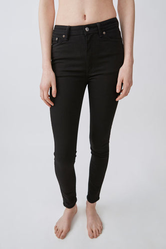 Peg skinny fit high rise jeans - black