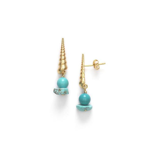 Turret shell earrings - biscay bay