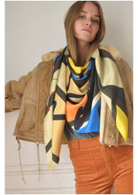 Silk twill scarf - Girl Power
