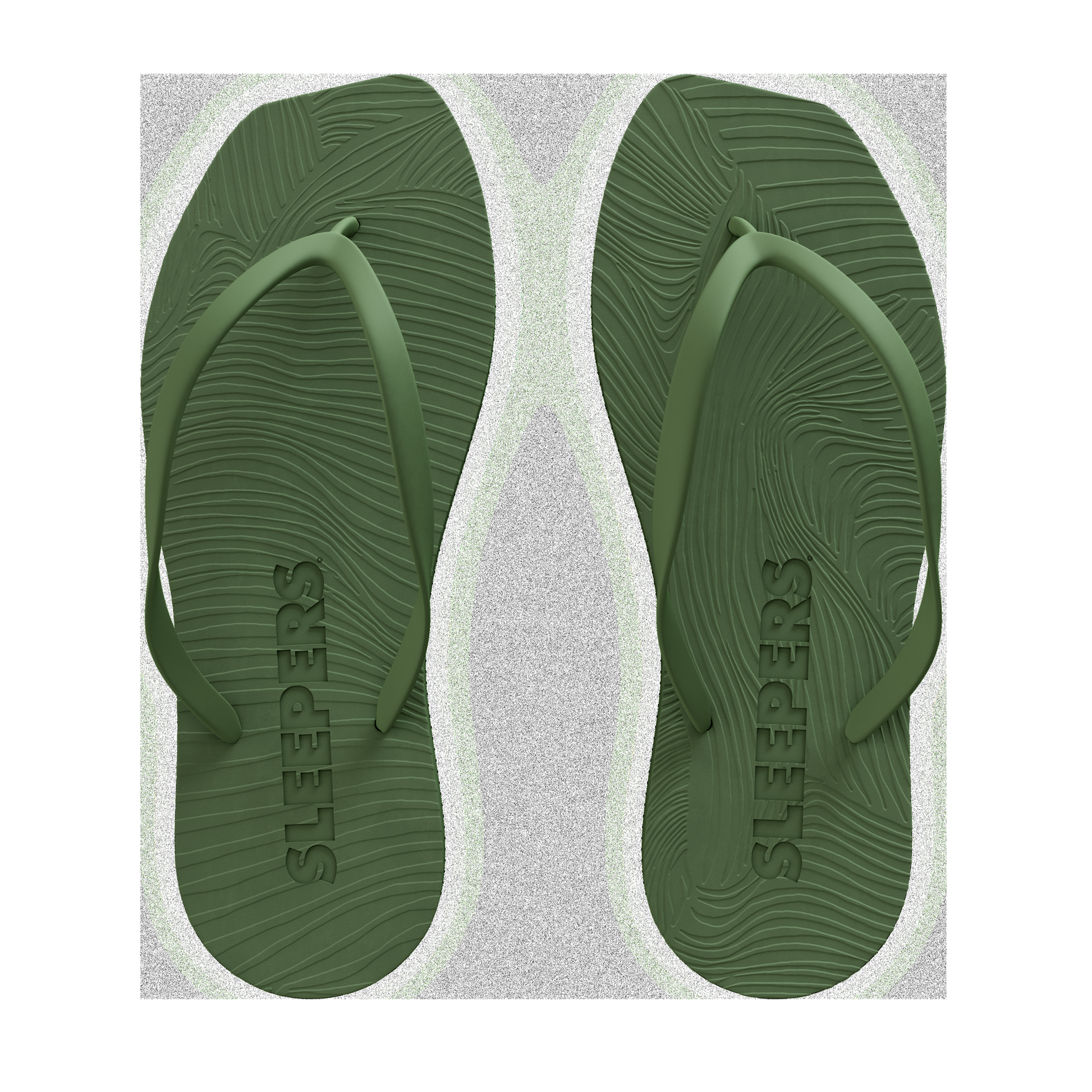 Tapered Natural Rubber - green