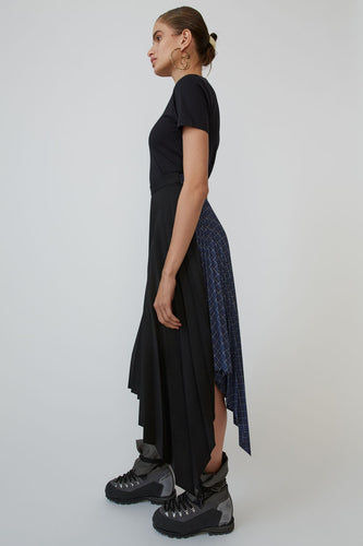 Ilsie asymmetrical pleated skirt