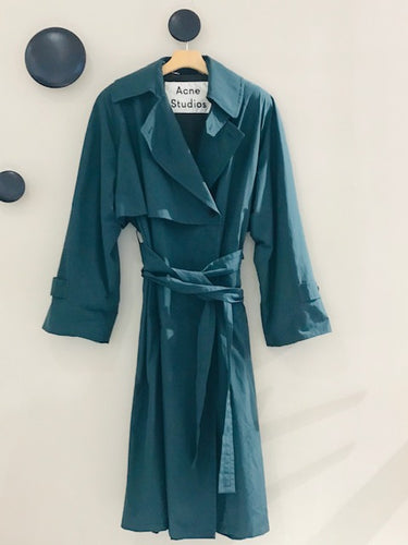 Orane shiny cotton trench