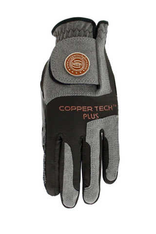 Copper Infused Golf Glove Black/Grey