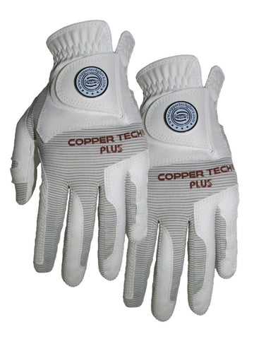 Copper Tech Men's Left and Right White/White, 2-Pack