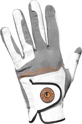 Copper Infused Golf Glove White/Grey