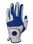 Copper Infused Golf Glove White/Royal Blue