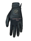 Copper Infused Golf Glove Black/Black