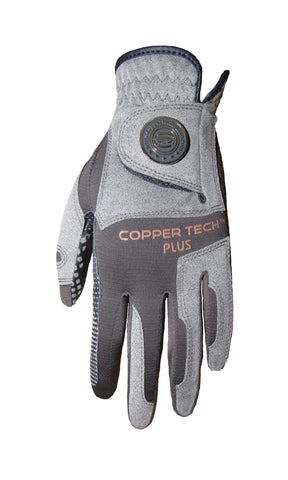 Copper Infused Golf Glove Charcoal/Grey