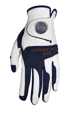 Copper Infused Golf Glove White/Navy