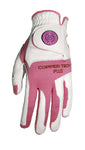 Copper Infused Golf Glove White/Pink
