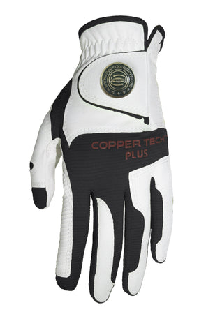 Copper Infused Golf Glove White/Dark Grey