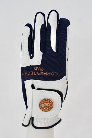 Copper Infused Golf Glove White/Dark Purple