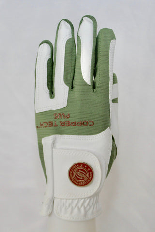 Copper Infused Golf Glove White/Green