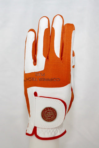 Copper Infused Golf Glove White/Orange